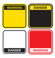 warning sign on a white background vector image