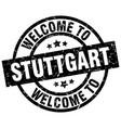 welcome to stuttgart black stamp vector image vector image