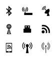 wireless icon set vector image vector image