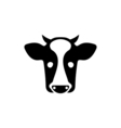 Cow Icon Flat vector image