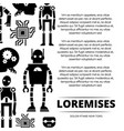 robots cyborgs and chips poster design vector image