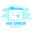 404 error with icon tab wedsite error vector image vector image