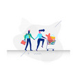 a couple in shopping concept vector image vector image