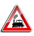 A sign warning train vector image