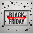 amazing black friday sale poster with black dots vector image vector image