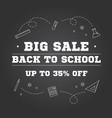 back to school sale design vector image vector image