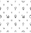 balloon icons pattern seamless white background vector image vector image