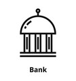 bank thin line icon vector image