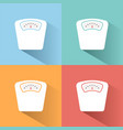 bathroom scale color icon with shadow on colored vector image
