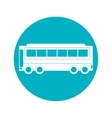 bus icon over circle isolated design vector image vector image
