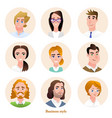 business people avatars set vector image