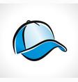 cap design on white background vector image