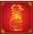 Chinese new year greeting card with rooster vector image vector image