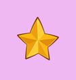 christmas cartoon icon - golden star vector image vector image