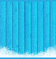christmas snow blue wood background vector image