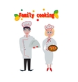 cooking profession vegetarian diet and people vector image