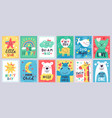 cute baposter kids play room nursery or baby vector image
