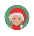 cute resentful baby santa claus emoticon vector image vector image