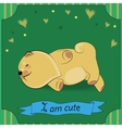 Cute Sleeping puppy Chow-chow vector image