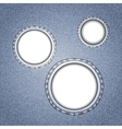 Denim with round holes Concept background design vector image vector image