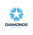diamond star logo jewelry logo jewel luster logo vector image vector image