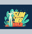 drawn person summer discounts bright modern style vector image vector image
