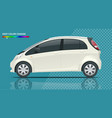 electric vehicle or hybrid car in outlines vector image