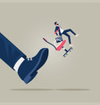fired job and business failure concept vector image vector image