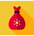 Flat Design Christmas Santa Bag Icon vector image