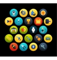 Flat icons set 24 vector image vector image