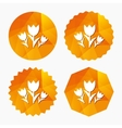 Flowers sign icon Roses symbol vector image vector image