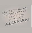 font alphabet script typeface vector image vector image