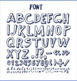 fonts hand drawn elements alphabet written ink pen vector image