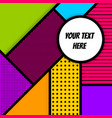 geometric pop art advertise background vector image vector image