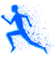 graphic running vector image