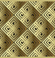 greek 3d gold geometric seamless pattern surface vector image vector image