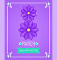 greeting card with 8 march vector image