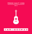 guitar icon symbol graphic elements for your vector image vector image