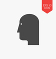 Head icon Flat design gray color symbol Modern UI vector image vector image