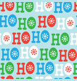 hohoho seamless pattern christmas pattern design vector image vector image