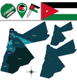 Jordan map with named divisions vector image vector image