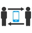 men smartphone exchange icon vector image vector image