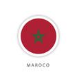 morocco circle flag template design vector image