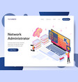 network administrator isometric vector image vector image