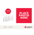 october 2019 desk calendar design template with vector image