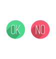 ok and no flat buttons vector image
