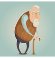 old man cartoon character vector image vector image