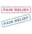 pain relief textile stamps vector image vector image