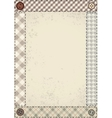 Patchwork border vector image vector image