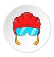 Pilot helmet icon cartoon style vector image